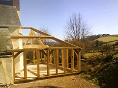 French oak framed garden room extension designed