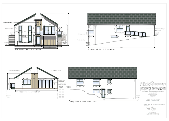 2D House design for planning application submitted by Nicholas Groom NG Property Renovation
